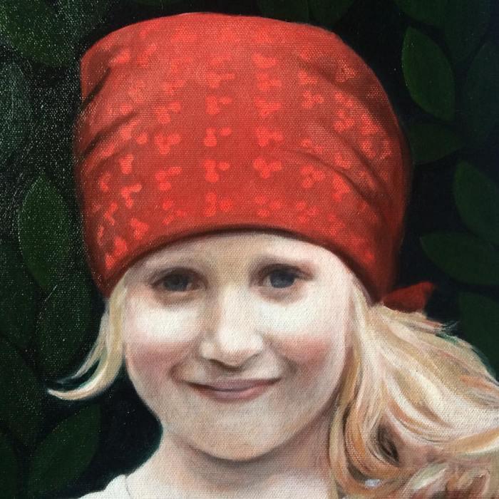 Portrait in oil paint by contemporary British portrait artist and portrait painter Matt Harvey