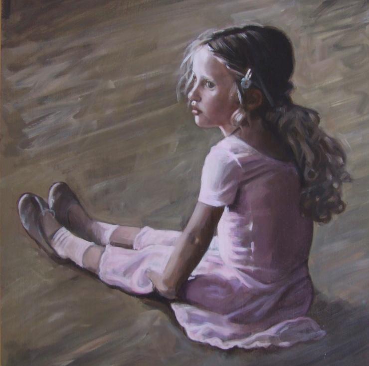 Bea at ballet, oil on canvas, Matt Harvey Art