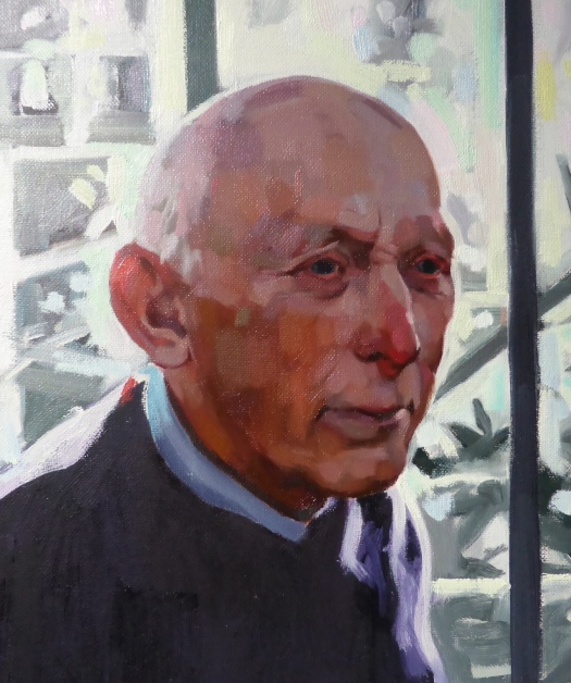 Courtenay detail, oil on canvas, Matt Harvey copy