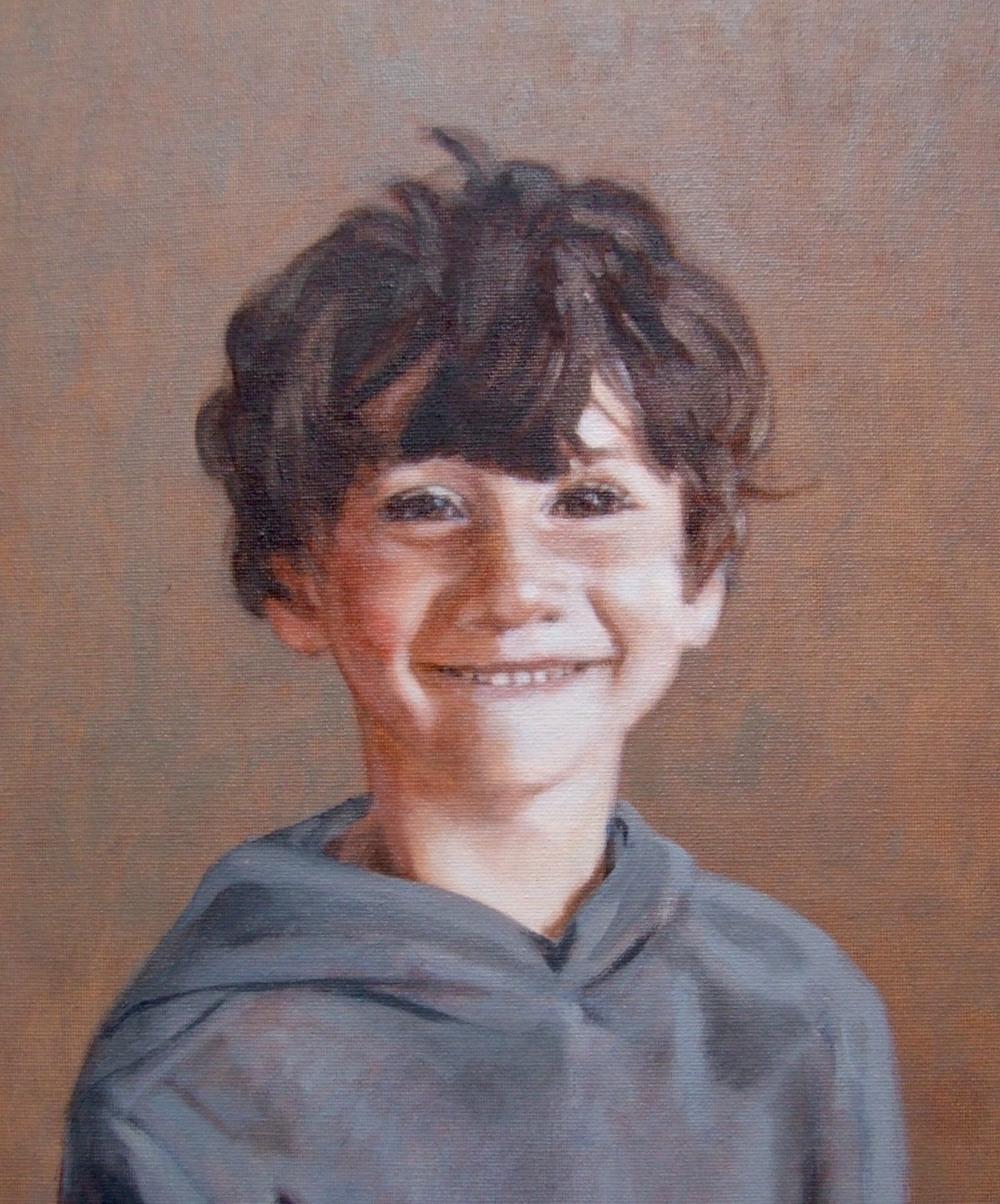 Portrait painting commission by Matt Harvey, British portrait painter, Devon, UK