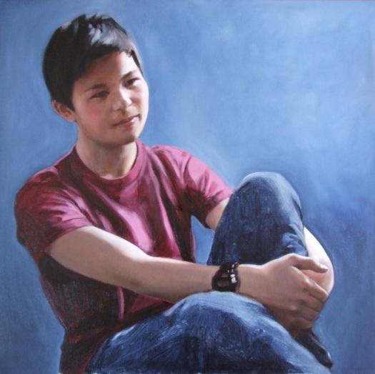 Portrait of Daiiki 8, Oil on canvas, Matt Harvey