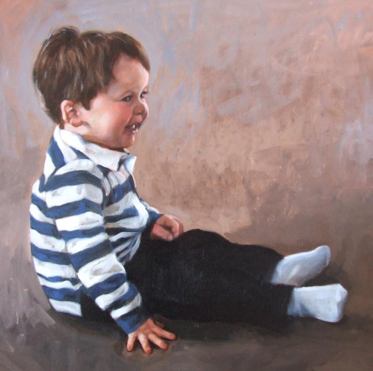 Teddy, oil on canvas, Matt Harvey
