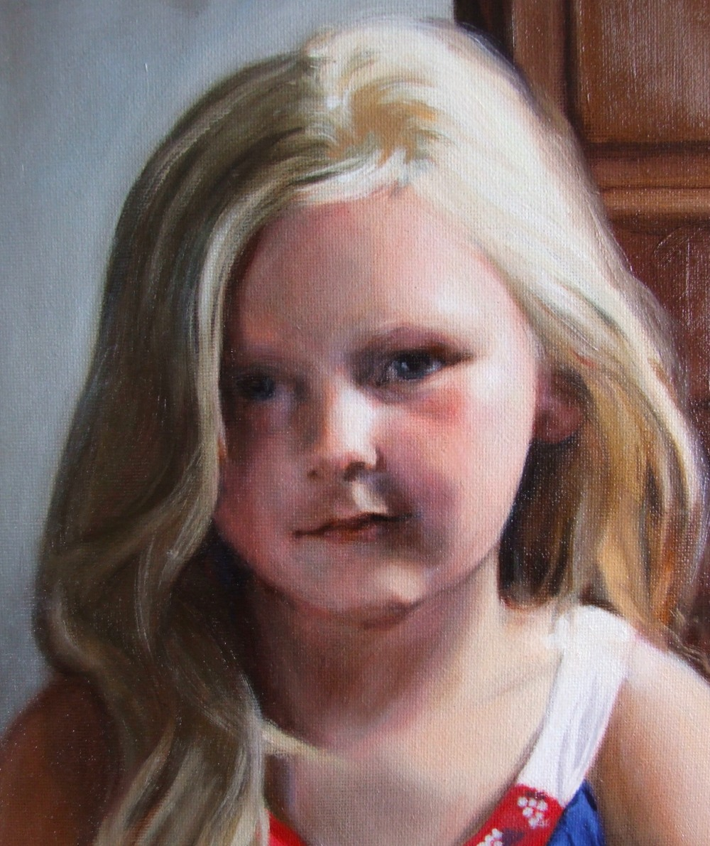 Dry brushing and blending in oil portrait painting