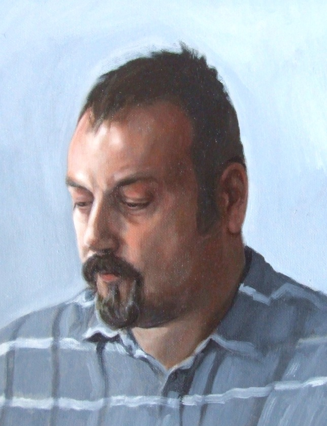 Steve Whitford, oil on canvas, Matt Harvey portrait painting 9