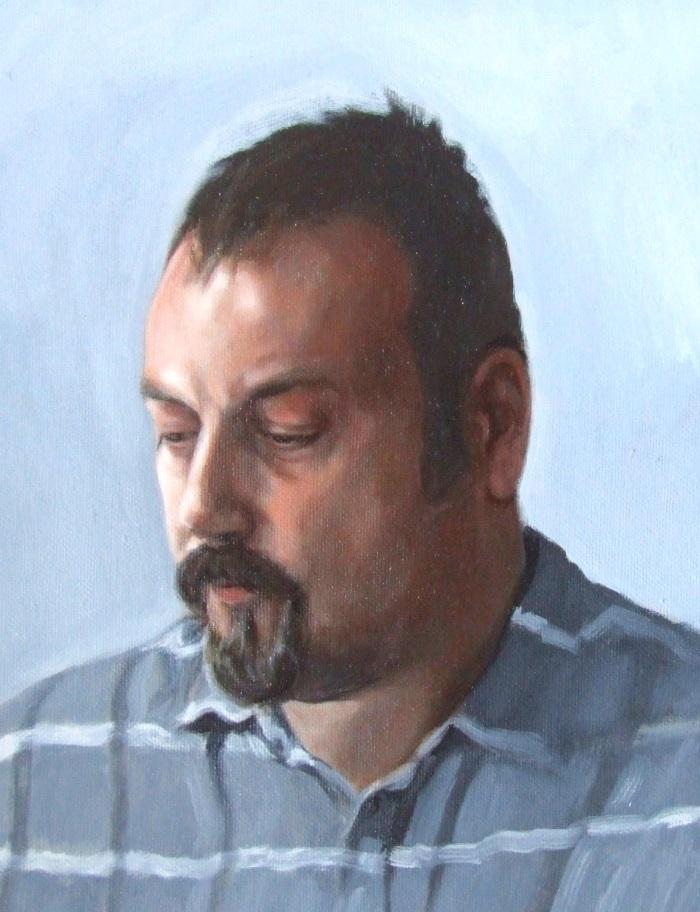Steve Whitford, oil on canvas, Matt Harvey portrait painting 9