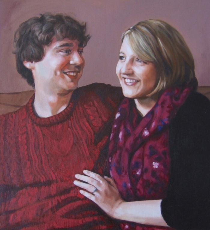 Anna and Simon, oil on canvas, Matt Harvey Art
