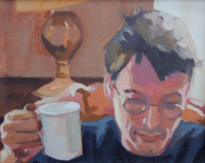 Portrait of Tom, Oil on canvas, Matt Harvey Art