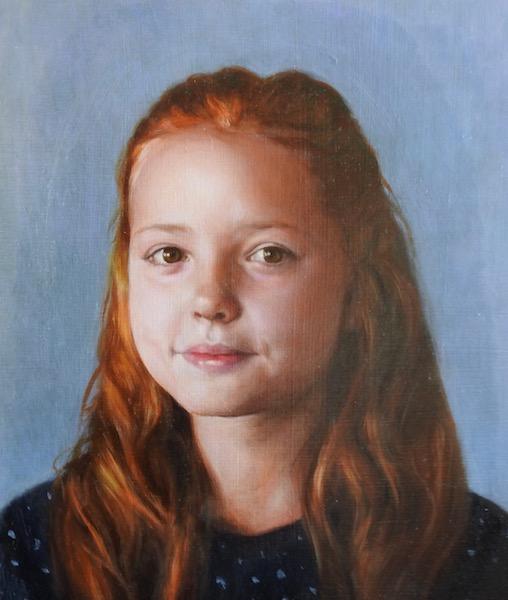 Commissioned portrait painting by Devon portrait painter Matt Harvey