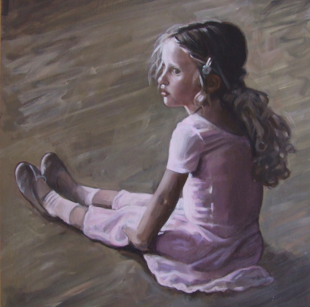 Portrait painting of a young ballet dancer by matt harvey, UK portrait artist. Commissioning a painting is a collaboration between the artist and the sitter. Please contact the artist for further details about commissioning a portrait painting of your loved ones.