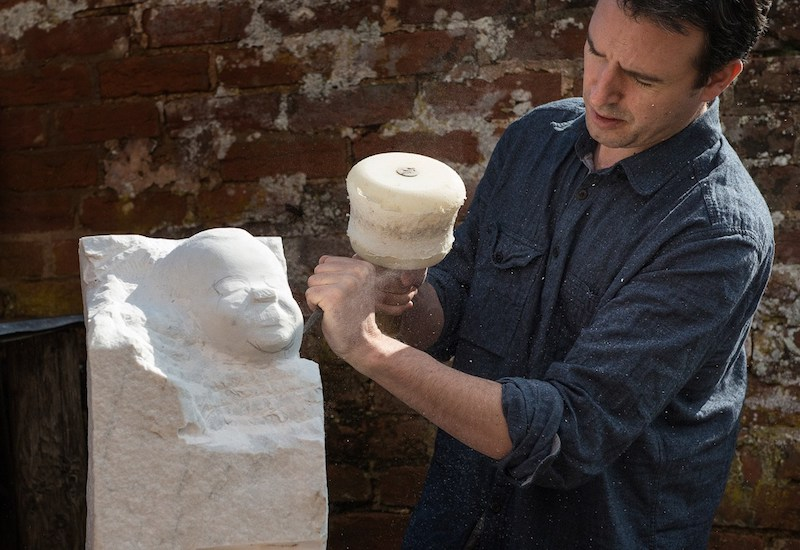 Matt Harvey Devon sculptor at work SMALL