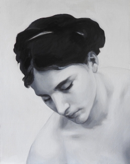 This is a grisaille underpainting by UK artist Matt Harvey, after Bouguereau. Painted in Titanium White and Ivory Black. Matt Harvey provides tuition and demonstrations in his videos about glazing oil paints.
