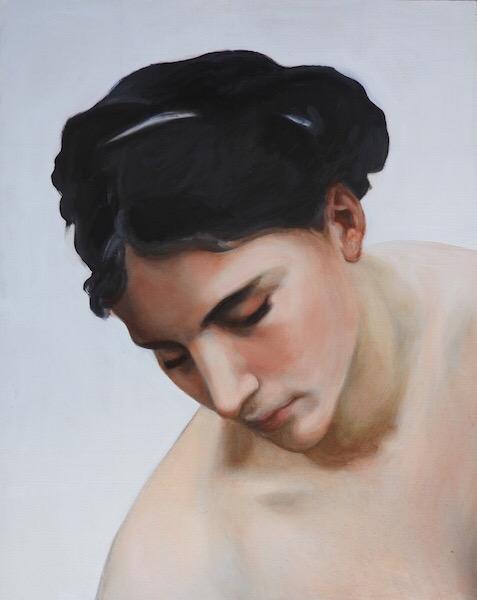 copy of a bouguereau painting by matt harvey UK portrait painter and artist