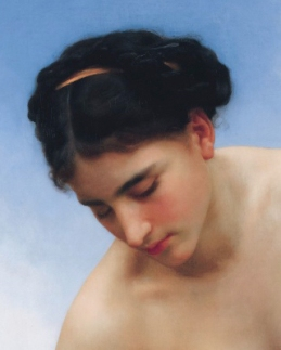 Cropped part of a William Bouguereau painting used by matt harvey to make a copy to learn the grisaille process.