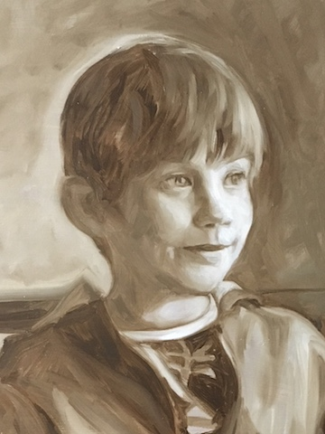 Jacob, grisaille DETAIL, oil on board, Matt Harvey Art copy