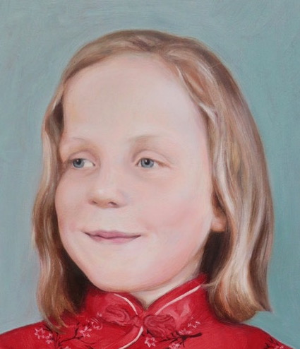 portrait of Romily, by portrait artist Matt Harvey. Based in the UK, Matt Harvey paints wonderful portraits that capture the soul of his sitters, for all enquiries about how to commission a portrait painting of your loved one, please go to mattharveyart.com