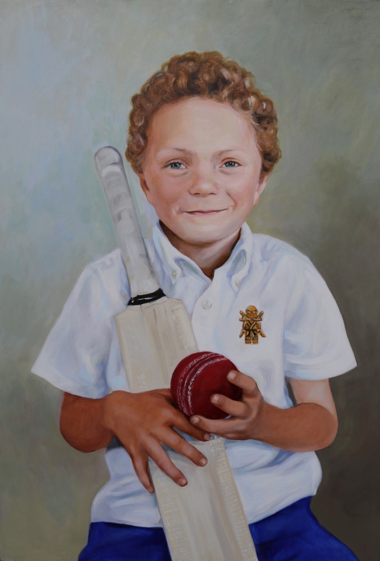 Tom, oil on board, 40x60cm Matt Harvey Art