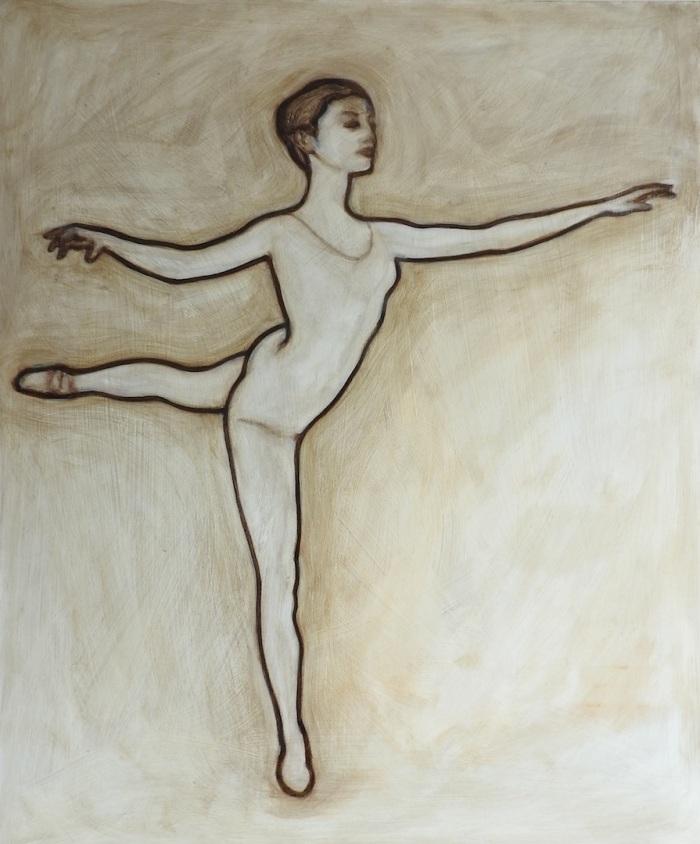 croise-derriere-en-lair-in-umber-oil-on-board-matt-harvey-art-copy1