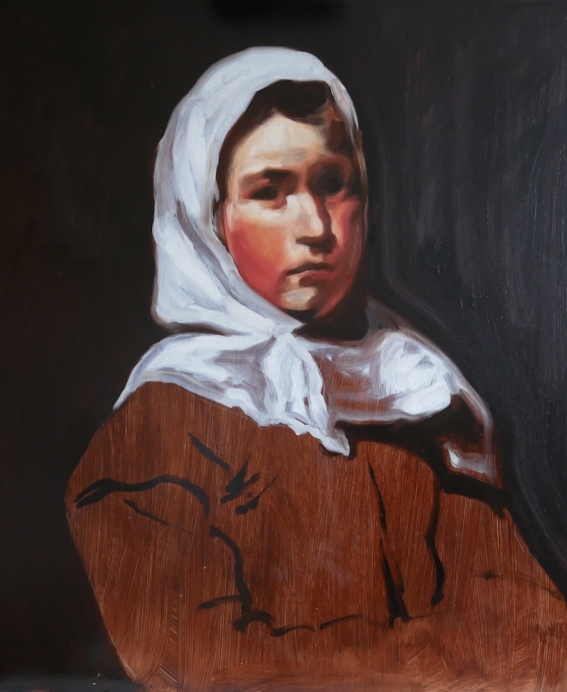This is a project by matt harvey to try and use the same technique as Velazquez in his portrait painting. I used a limited colour palette of vermilion, yellow ochre, white, black and burnt umber