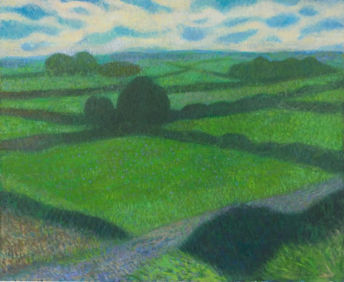 landscape painting of oxfordshire countryside by UK portrait painter and artist Matt Harvey